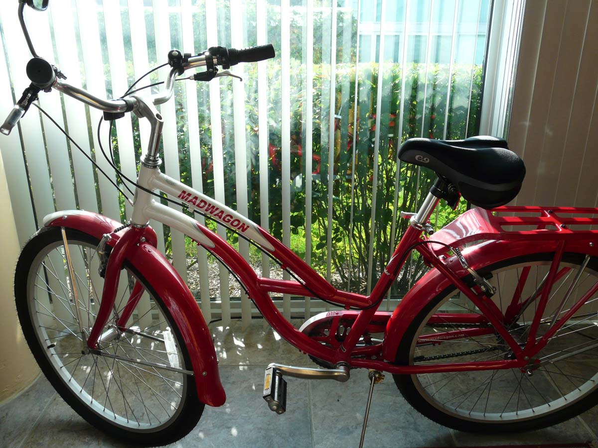 retro red bike