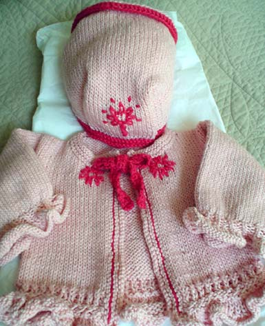 baby sweater with bonnet