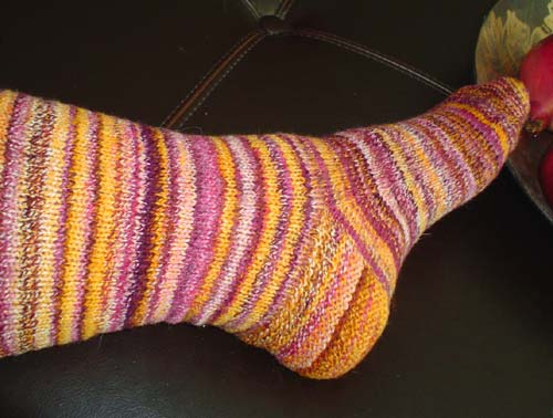 finished wild thing sock