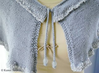 Ruffled Collar Capelet